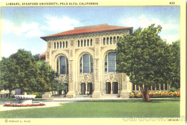 Library , Stanford University Palo Alto California