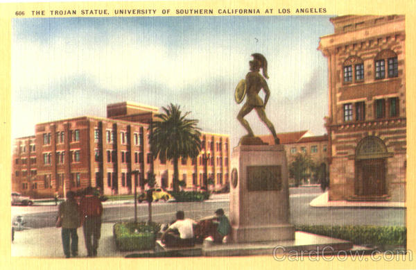 The Trojan Statue , University Of Southern California Los Angeles