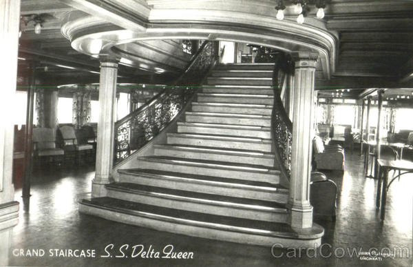 Grand Staircase S. S. Delta Queen Boats, Ships