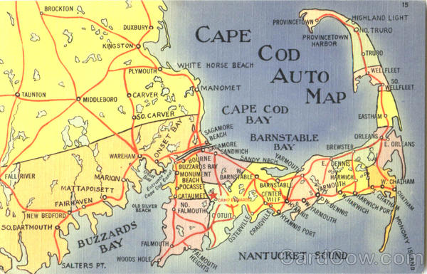 Cap Cod Auto Map Cape Cod Massachusetts