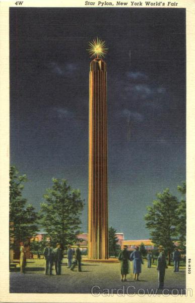 Star Pylon Vintage Postcard