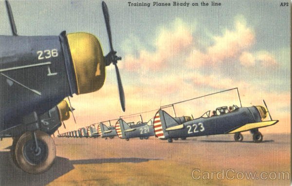 Training Planes Ready On The Line Air Force