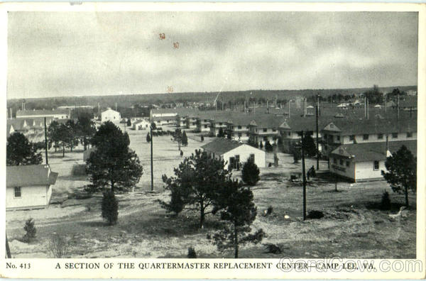 A Section Of He Quartermaster Replacement Center Camp Lee Virginia