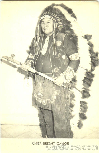 Chief Bright Canoe Native Americana