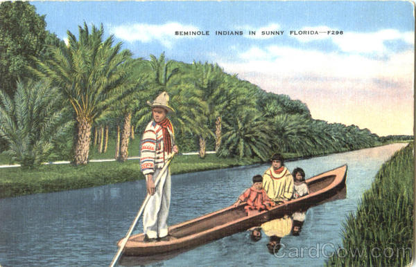 Seminole Indians In Sunny Florida Native Americana