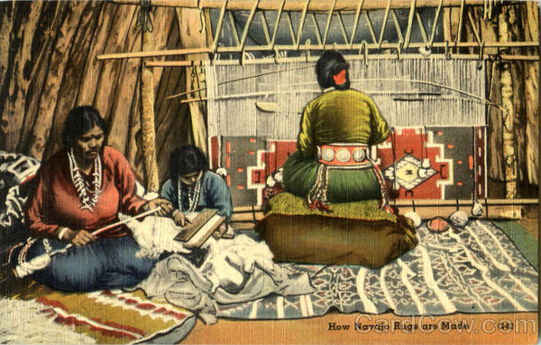 How Navajo Rugs Are Made Native Americana
