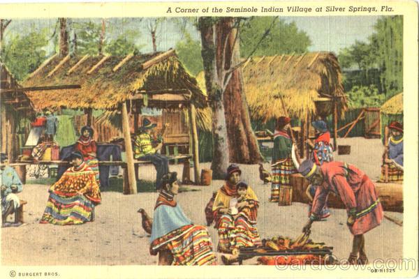 A Corner Of The Seminole Indian Village Silver Springs Fl