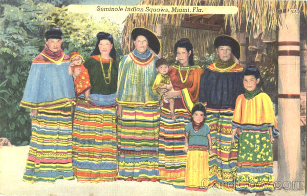 Seminole Indian Squaws Miami Florida