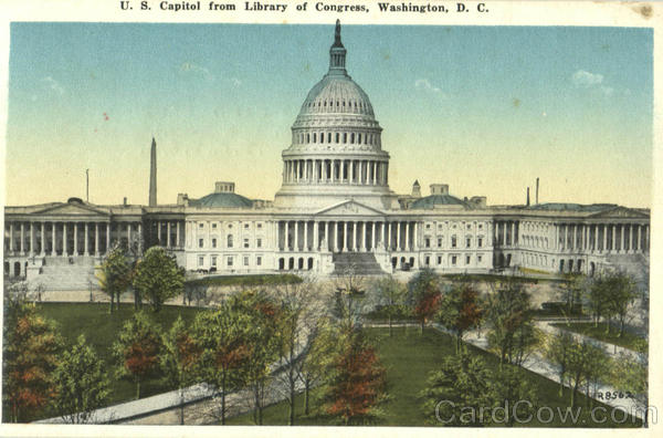 U. S. Capitol From Library Of Congress Washington District of Columbia