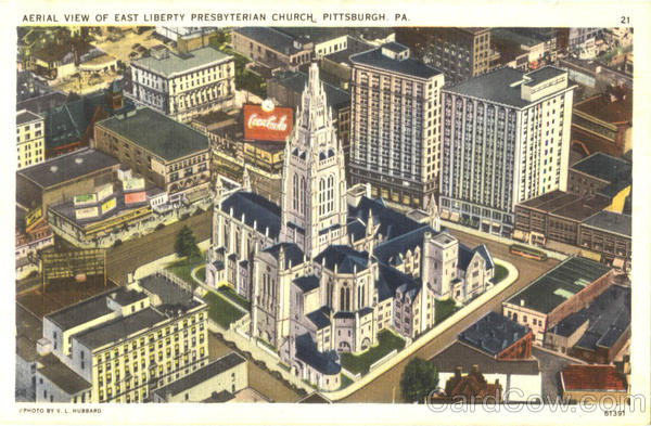 Aerial View Of East Liberty Presbyterian Church Pittsburgh Pennsylvania