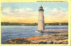 Rock Island Light House Postcard