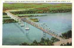 Aerial View Of Rip Van Winkle Bridge Over Hudson River