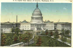 U. S. Capitol From Library Of Congress