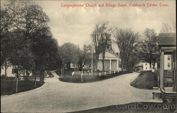 Congregational Church and Village Green Colebrook Connecticut