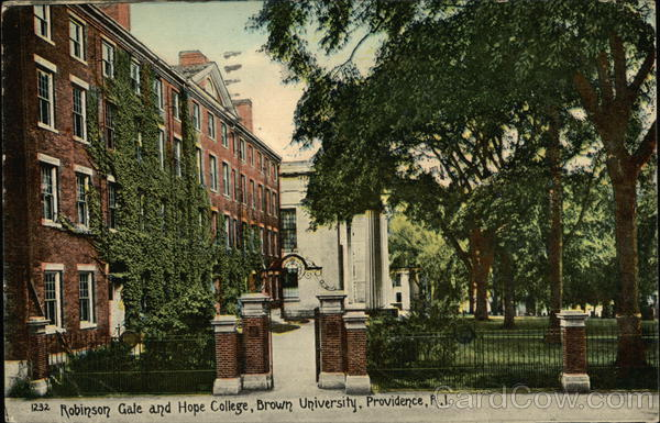 Brown University - Robinson Gale and Hope College Providence Rhode Island