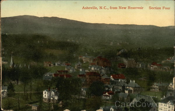 Asheville From New Reservoir, Section Four North Carolina
