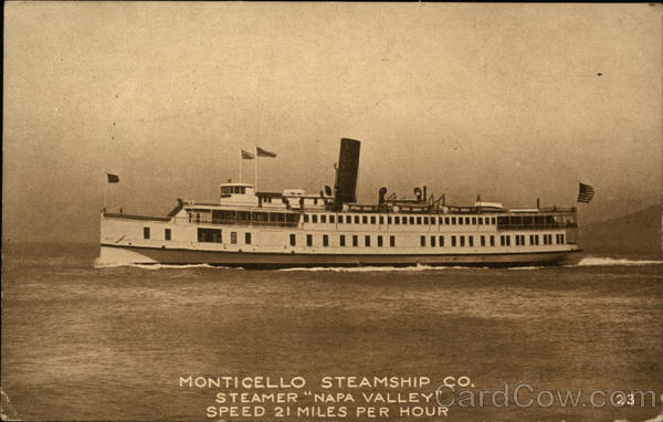 Monticello Stemship Co., Steamer Napa Valley Steamers