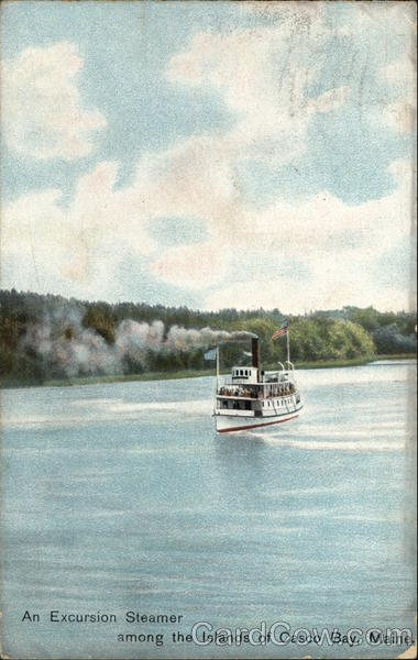 An Excursion Steamer among the Islands of Casco Bay Maine