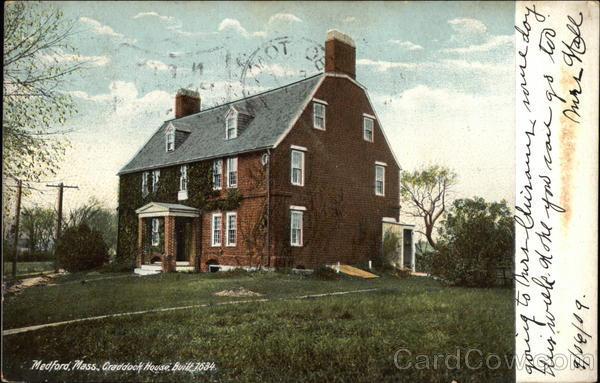 Craddock House, Built 1634 Medford Massachusetts