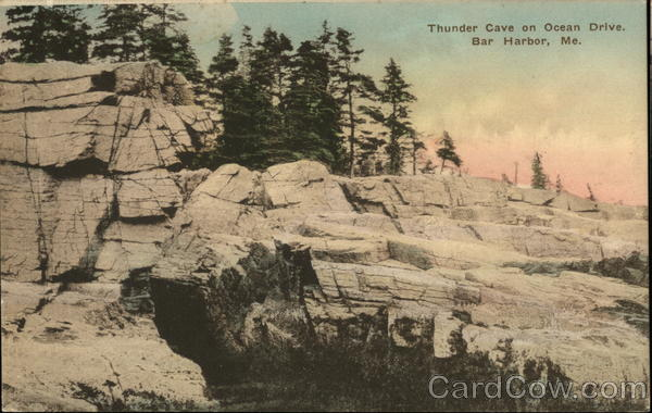 Thunder Cave on Ocean Drive Bar Harbor Maine