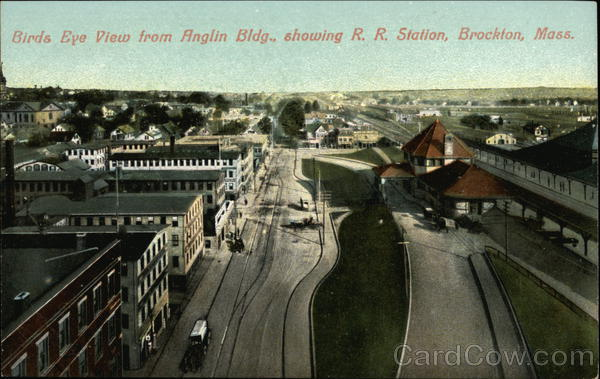 Birds Eye View of Brockton, Mass Massachusetts