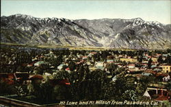 Mount Lowe and Mount Wilson from Pasadena