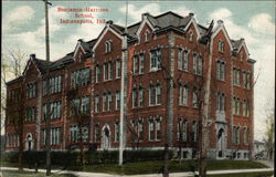 Benjamin Harrison School Postcard