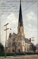 Fletcher Place M. E. Church Postcard