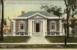 The William D'Weeks Memorial Library Postcard