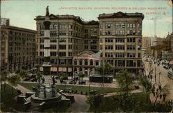 Lafayette Square, Showing Soldiers & Sailors Monument