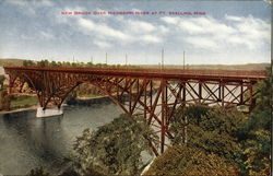 Mississippi River Bridge at Ft. Snelling, Minn Postcard