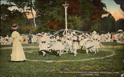 The May Pole Dance of Children, Druid Hill park