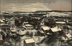 Birds-eye View of Oneonta, NY from Armory Tower