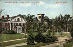 Amherst College - President's House, College Library, College Hall