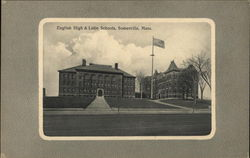 English High & Latin Schools Postcard