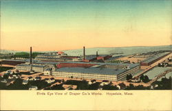 Birds Eye View of Draper Co.'s Works Postcard