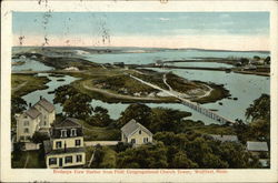 Birdseye View Harbor from First Congregational Church Tower Postcard