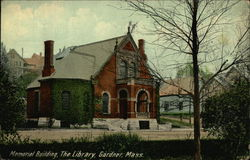 Memorial Building, The Library, Gardner, Mass.
