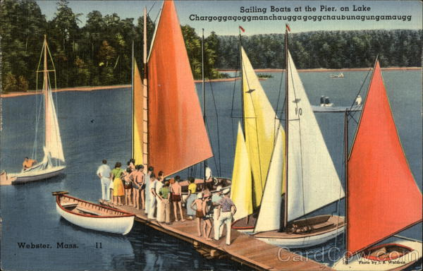 Sailing Boats at the Pier Webster Massachusetts