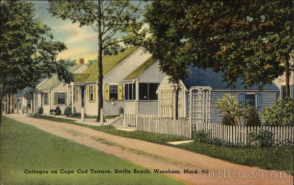 Cottages on Cape Cod Terrace, Swifts Beach Wareham Massachusetts