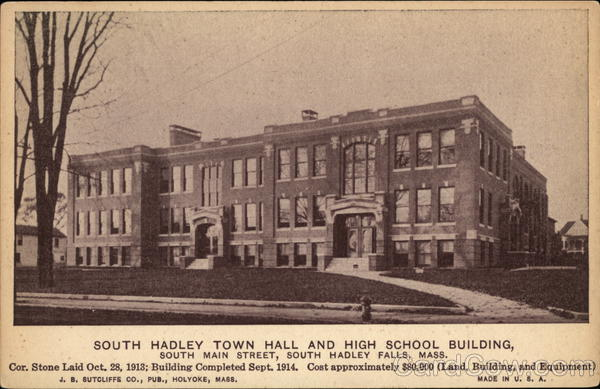 South Hadley Town Hall and High School Building Massachusetts