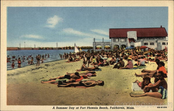 A Summer Day at Fort Phoenix Beach Fairhaven Massachusetts
