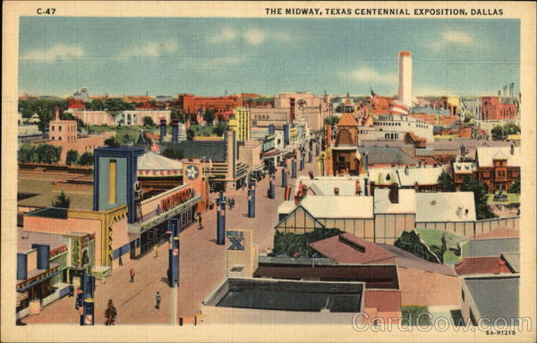 The Midway, Texas Centennial Exposition Dallas