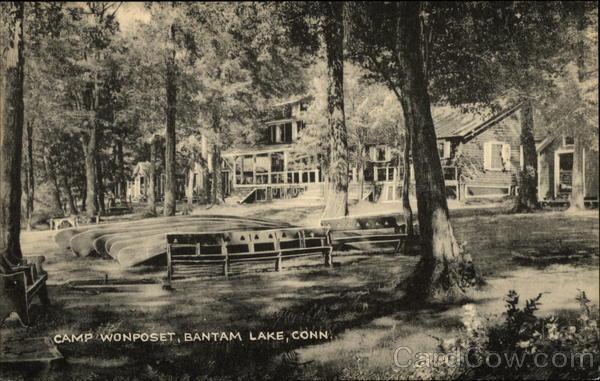 What Is My Paypal Email >> Camp Wonposet, Bantam Lake Morris, CT Postcard
