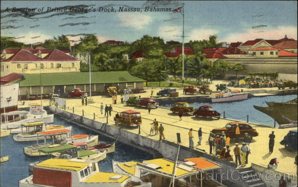 A Section of Prince George's Dock Nassau Bahamas Caribbean Islands