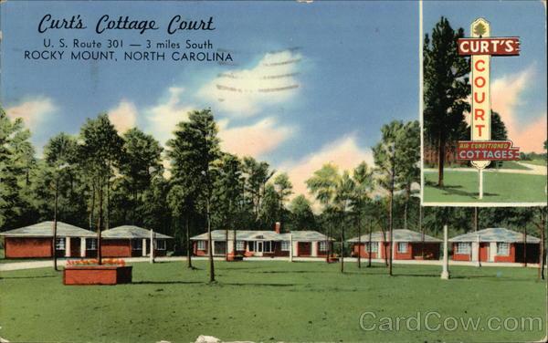 Curt's Cottage Court Rocky Mount North Carolina James E. Hess