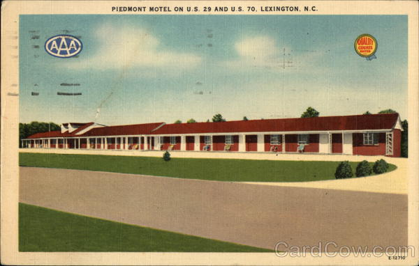 Piedmont Motel on US 29 and US 70 Lexington North Carolina