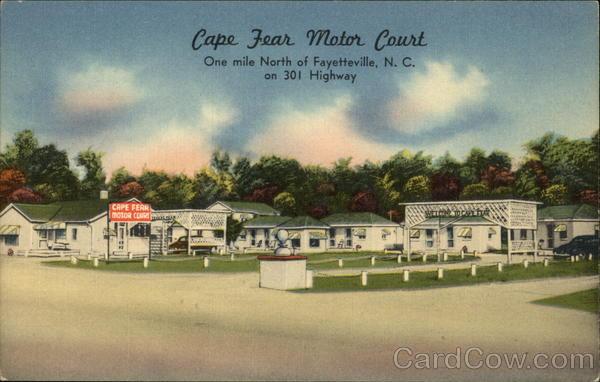 Cape fear motor court fayetteville nc postcard for Carolina motor inn fayetteville nc