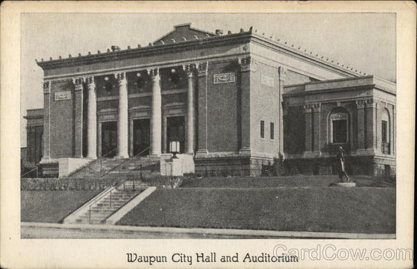 City Hall and Auditorium Waupun Wisconsin