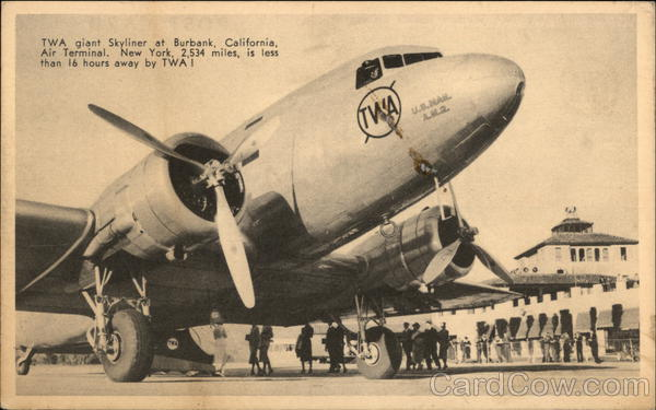 TWA Giant Skyliner Burbank California Aircraft
